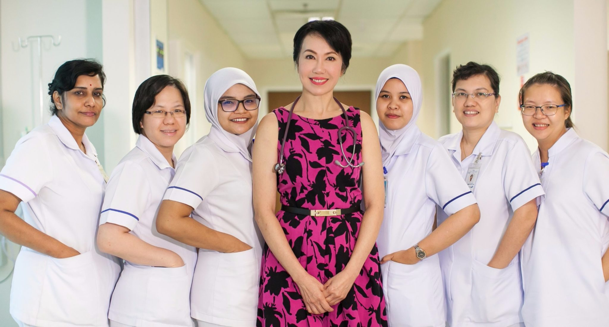 Dr Gan with staff nurse at Gleneagles Hospital Penang