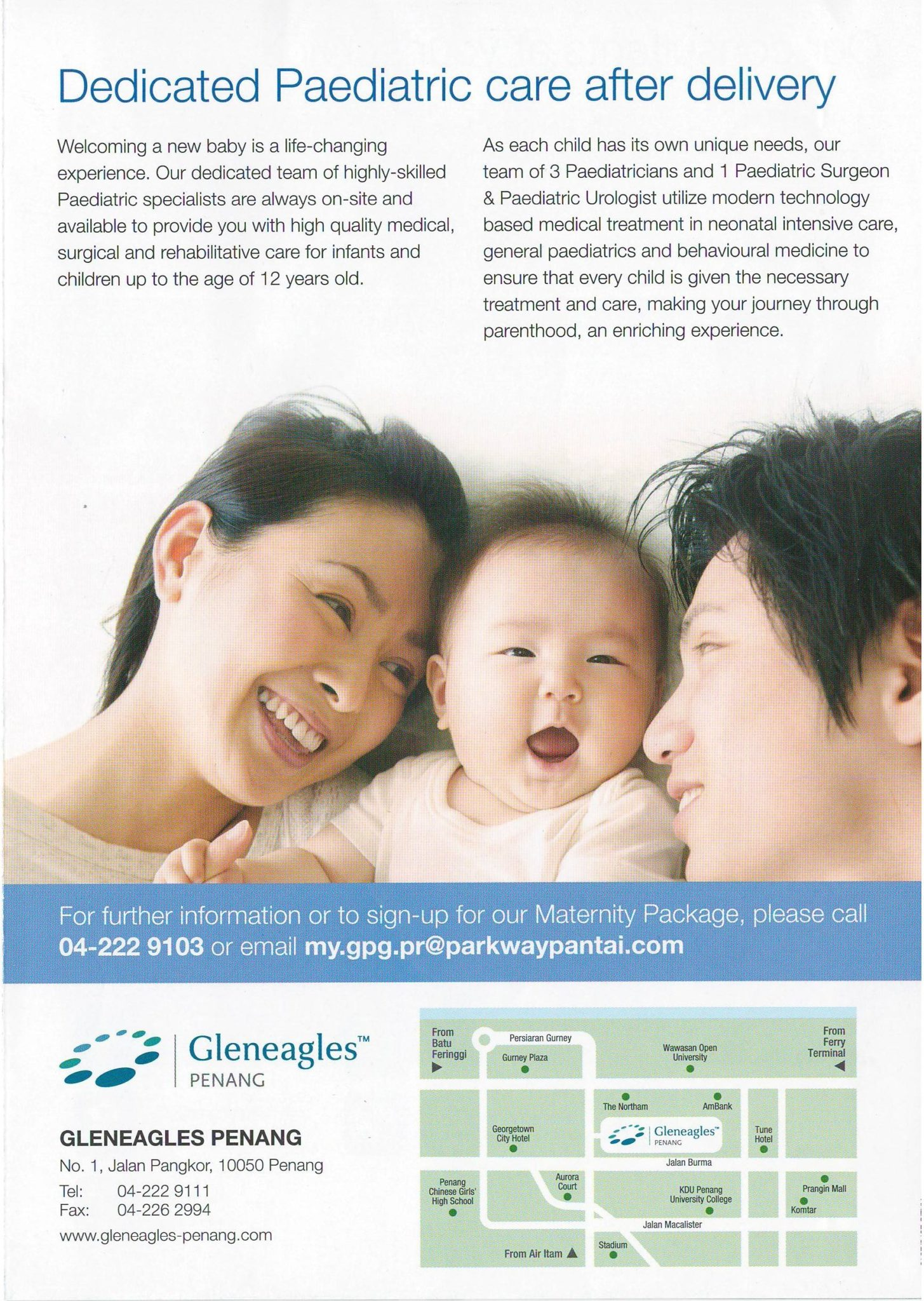 Gleneagles Penang 2017 Maternity Pacakge Page 4 - Paediatric care after delivery