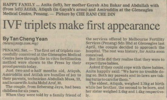 ivf-triplets-newspaper-article-Drgan